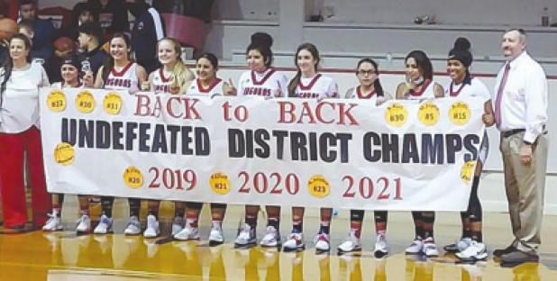 Undefeated Lady Angoras claim District 31A Champs!