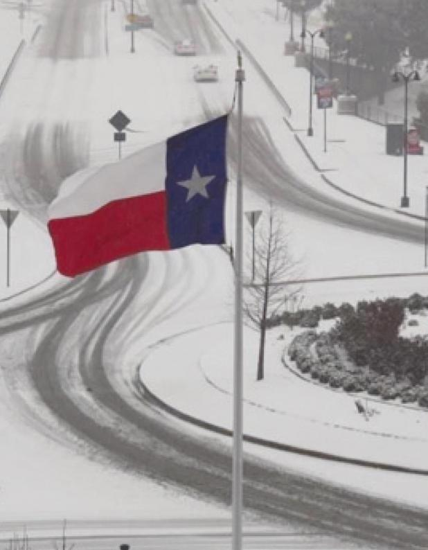 The State of Texas remains frozen