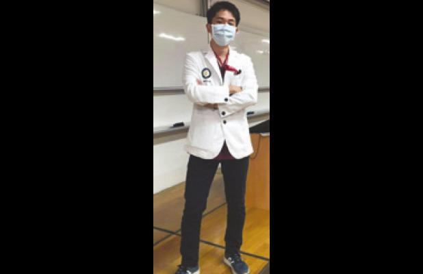 Former RHS exchange student Watanabe in medical training in Japan