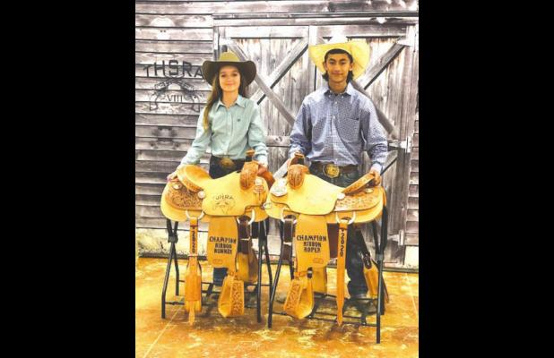 Greene and Hernandez roundup championships in rodeo association